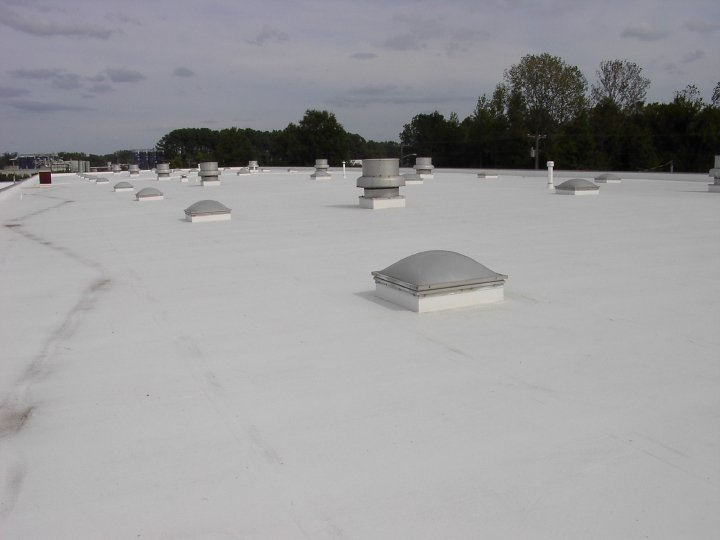 Top of Commercial Roof